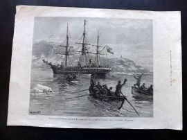 ILN 1882 Print. Eira Arctic Expedition. Rescue of B. Leigh Smith. Nova Zembla